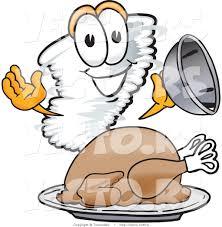 cartoon images of thanksgiving turkey vector of a cartoon tornado mascot beside a thanksgiving turkey by