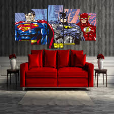 Superman Room Decor hd printed cartoon superman batman flash justice league group