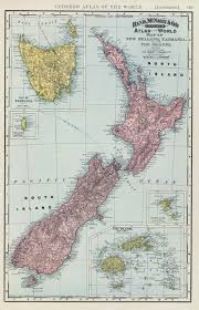 New Zealand And Australia Map New Zealand Colony