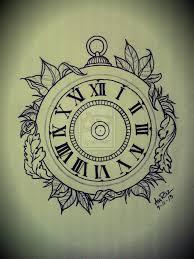30 simple clock tattoos