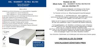 K Hen Anbieter 30cm Xxl Mammut Ultra Boxspring 7 Zonen Kaltschaum Matratze H2 H3