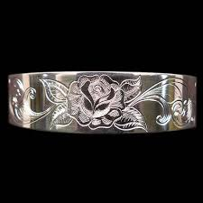 bracelet rose metal images Sterling silver cuff bracelet rose armstrong engraving custom jpg