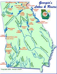 Georgia lakes images Lakes and rivers map gif