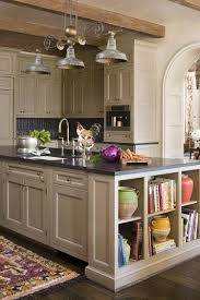 trendy kitchen island cabinets black solid wood material cabinet