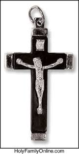 wooden crucifix black wooden crucifix 2 25 inches holyfamilyonline