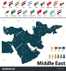 Map Of Middle East Blank by Vector Map Middle East Countries Big Stock Vector 629160830