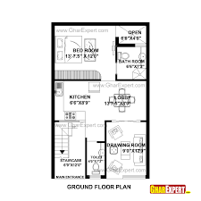 house plan for 22 feet by 35 feet plot plot size 86 square yards