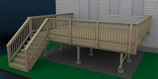 How To Build A Banister For Stairs How To Build A Deck Wood Decking And Railings