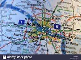 of houston cus map up map of houston usa stock photo royalty free image