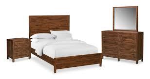 ryder 6 piece queen bedroom set mahogany american signature