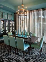 dining room idea design trend decorating with blue hgtv upholstered dining chairs