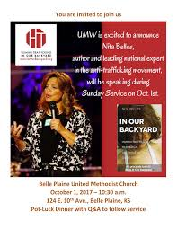 nita belles special speaker at belle plaine united methodist