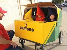 Crayon Halloween Costume Wagon Stroller Car Wc Crayons Box Triplets Halloween