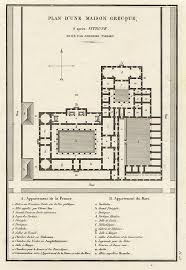 ancient greece floor plan old and antique prints and maps ancient greece plan of a greek