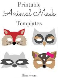 felt animal mask printable templates animal mask templates mask