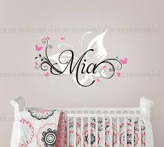 Personalized Wall Decals For Nursery Butterfly Wall Decal Custom Name Baby Nursery Custom Wall Decals