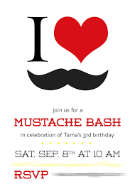 105 Best Anna U0027s 3rd by Moustache Invitations Free Printable Invitation Design