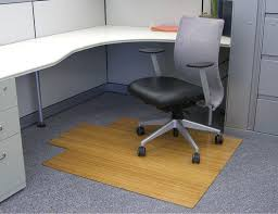 Chair Mats For Laminate Floors Office Chair Mats Made Using Multiple Bamboo Slats Finished