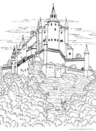 Castles And Knights Color Page Coloring Pages For Kids Fantasy Coloring Pages Castles