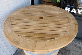 36 round table top wine barrel bar table