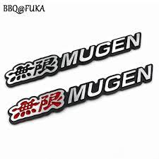 jdm honda sticker car 3d auto aluminum mugen emblem rear badge car sticker fit for