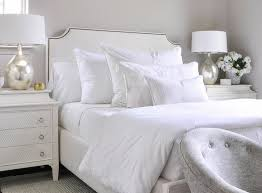 white french nightstand with 3 drawers transitional bedroom