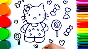 learn colors children coloring pages kitty