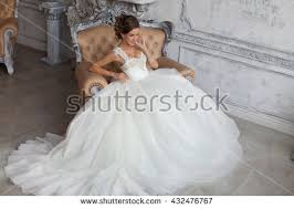 in wedding dress beautiful wedding dress wedding dress stock photo 432476806