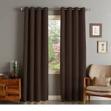 Velvet Curtain Panels Target Rhf Blackout Thermal Insulated Curtain Antique Bronze Grommet