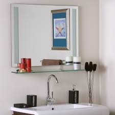 furniture gorgeous frameless wall mirror for home furniture ideas
