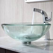 Glass Vanity Countertop Blue Glass Vessel Sink Foter