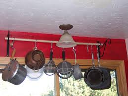 kitchen pot rack ideas pot and pan wall rack with classic pots and pans bar rack ideas