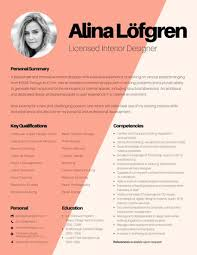 designer resume interior design resume template creative interior designer resume
