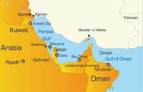middle east map gulf of oman gulf states map showing iconic tourist attractions