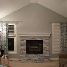 Brick Fireplace Paint Colors - decor u0026 tips interiors with brick fireplace and painting