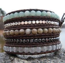 bracelet bead leather images Gemstone leather wrap bracelets onsra designer bracelets jpg