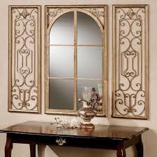 Bathrooms Design Big White Mirror Wooden Mirror Round Bathroom
