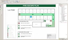 evacuation floor plan template fire escape plans
