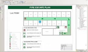 Floor Plan For Hotel Fire Escape Plans
