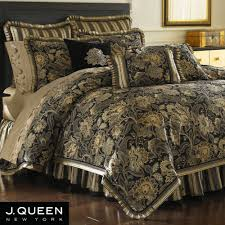 black and gold bedding piece queen lafayette jacquard gold black
