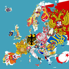 European Countries Map Map Of European Countries Coat Of Arms X Post R Mapporn