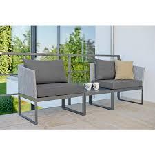 oder sofa modulares balkonset 3 in 1 lounge sofa oder liege outdoor