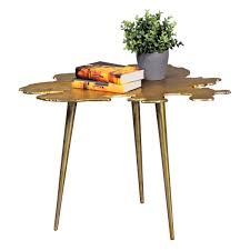Wohnzimmertisch Orient Finebuy Beistelltisch Blatt Wohnzimmertisch Gold Design Dreibein