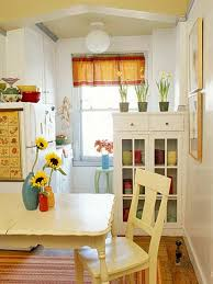 cute and small dining room design with storage ideas