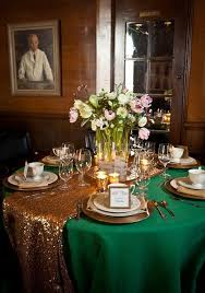 emerald green table runners emerald and gold wedding theme emerald green wedding dresses