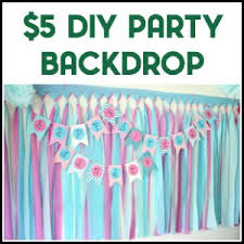 diy photo backdrop diy party background for 5 or less