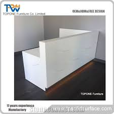 Acrylic Reception Desk China Office Furniture White Simple Beauty Nail Salon Reception