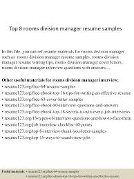 Samples Of Resume For Teachers by Top8roomsdivisionmanagerresumesamples 150410093929 Conversion Gate01 Thumbnail 4 Jpg Cb U003d1428676827