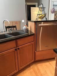 raising kitchen base cabinets you had a raised dishwasher hometalk