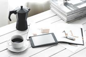 free picture coffee mug mobile phone desk book interior